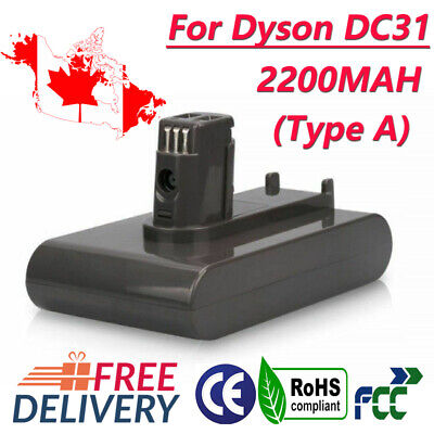 CA! 2200mAh 22.2V Lithium Battery for Dyson DC31, DC31 Animal, DC44 (Type A) GM