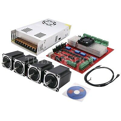 MACH3 CNC 4-Axis Kit (TB6560 Stepper Motor Driver Board Controller+Nema23+Power