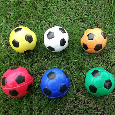 Football Ball Exercise Stress Relief Squeeze Elastic Soft Foam Ball 6.3cm!#