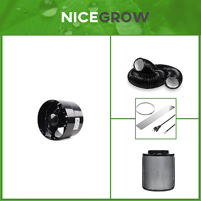 Abluft-Set Growbox Black Orchid Axial Flo 150 358cbm Airontek AKF 450cbm Grow