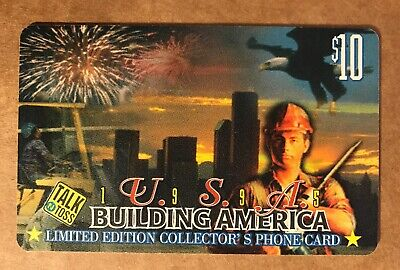 1995 USA, Building America, Limited Edition Collector's $10 Phone Card, Used