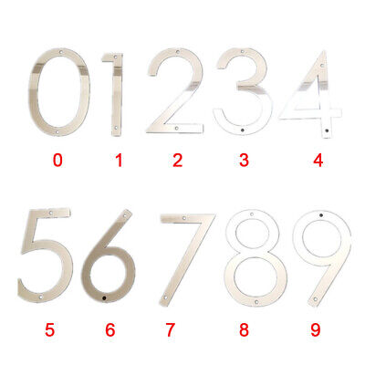 Home Office Contemporary House Signs Plaques Door Numbers 0- 9 Name Plate