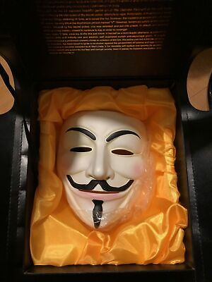 V for vendetta -Guy Fawkes- Anonimus maschera De Luxe