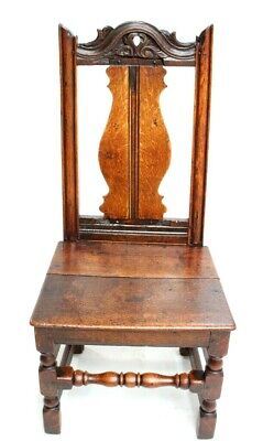 Antique Victorian Carved Oak Hall Chair - FREE Shipping [5381]