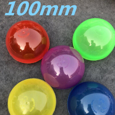 50 Packs of Large Round Empty Capsules Multicolor for Toy Vending Machine 100 MM