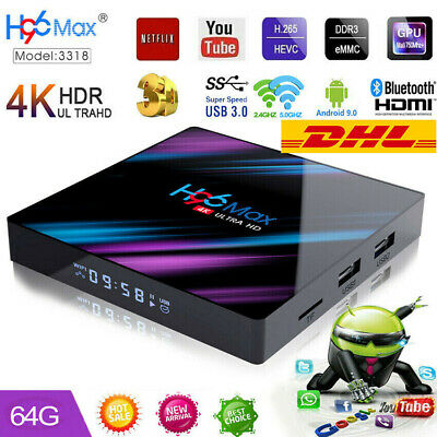 H96 Max RK3318 4+64GB Android 9.0 Smart TV Box Quad Core WIFI 4K Media Player TA