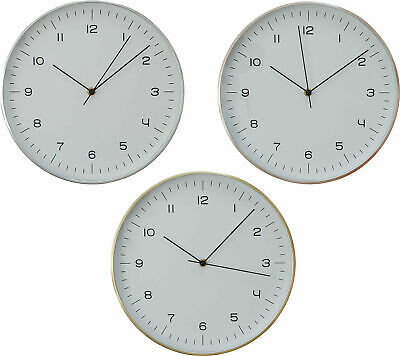 Elko Round Wall Clock Time 31cm Analogue Kitchen School Living Room Office Decor