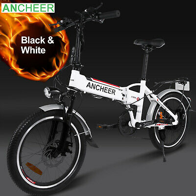 ANCHEER 20'' Electric Bike Ebike City Moutain Bicycle Cycling 7 Speed 36V 250W ~