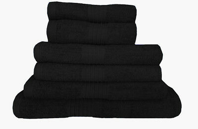 100% Egyptian Cotton Towel Set Jumbo Bath Sheet Black Towels Large Bathroom Bale