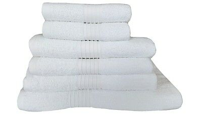 100% Egyptian Cotton Towels Set White Bath Sheet Hand Towels Large Bathroom Bale