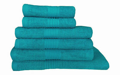 100% Egyptian Cotton Towels Set Teal Bath Sheet Hand Towels Large Bathroom Bale