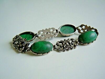 Faberge design Antique Russian 84 silver Bracelet with stone 19th century