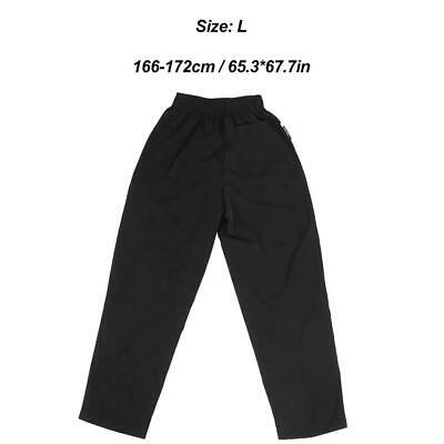 Chef Pants Cook Work Trousers Kitchen Catering Baggy Uniform Elastic Waist
