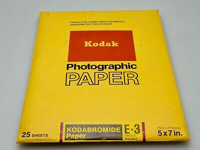 Kodak Kodabromide E3 Photographic Paper Single Weight