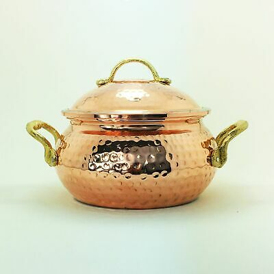 Turkish Anatolian Hand Hammered Copper Stew Pot with Lid