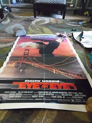 Excellent Eye For An Eye Chuck Norris Movie Poster