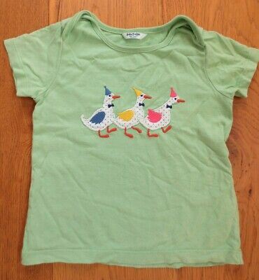 Baby Boden Appliqué T-Shirt 18-24 months - ducks, green, Genuine