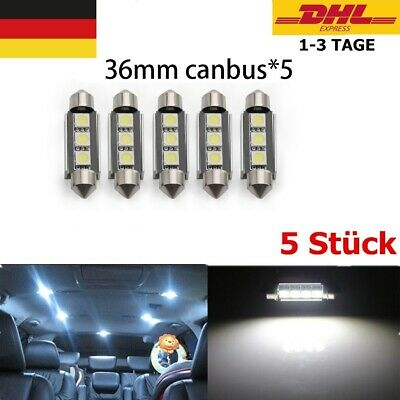 5x 36mm Canbus LED Soffitte 3 5050 SMD weiß Innenraum Soffite Beleuchtung Xenon