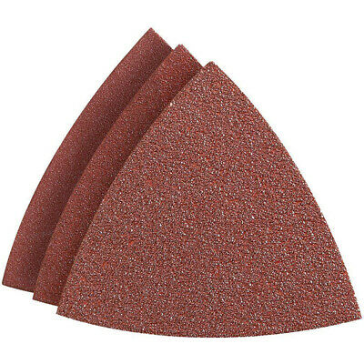 100pcs Grit Multi Tool Triangle Sandpaper Pad Disc Wood MultiFunction Power Tool