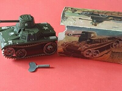 Blechspielzeug Gama Tank D. R. G. M. Made in Germany U. S. - Zone um 1950 in OVP