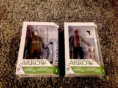 Bundle Of 2 Dc Collectibles - Arrow Tv Series - Action Figures -Malcolm Merlyn