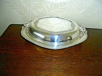Large Silver Plated Twin Handled Entree Dish