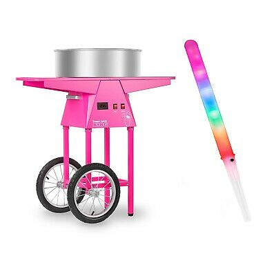 Candy Floss Machine Set Cart 100 Led Cotton Candy Sticks Bpa Free 52 Cm 1030 W