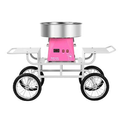 Candy Floss Machine With Cart Cotton Candy Maker Undercarriage Pink