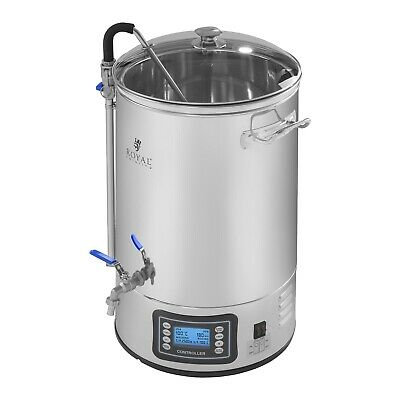 Mash Tun Kettle Homebrew Beer Stainless Steel Brewing Homebrew Container Timer
