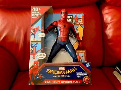 """Marvel Spider-Man Homecoming Tech Suit Spider-Man 12"""" Toy Action Figure New"""
