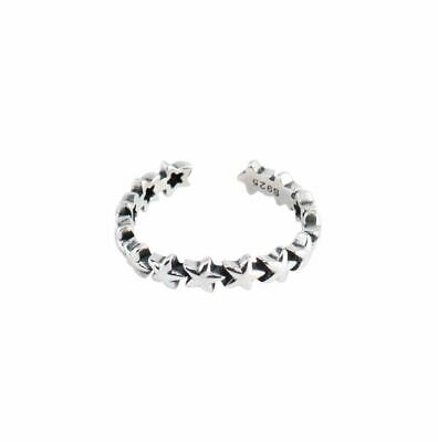 Ancient S925 Sterling Silver open Ring Jewelry with Stars Gift For Women Girl