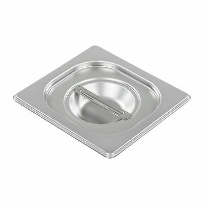 Baine Marie Gastronorm Pan Lid Cover Gn 1/6 Size Stainless Steel  Commercial