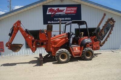 2006 Ditch Witch Rt75 Trencher 2067 Hours 74 Hp Diesel Front Mount Backhoe 4X4
