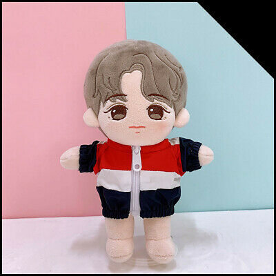 KPOP NCT Taeyong EXO BTS SUGA Plush Doll's Clothes Tricolor Trench Coat【no doll】