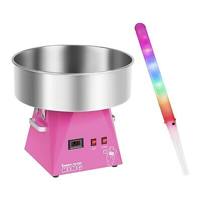 Cotton Candy Machine Set 50 Led Candy Floss Sticks Cotton Candy 1030W 52Cm