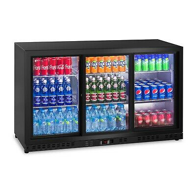 Drinks Fridge Commercial Glass Door Beer Wine Chiller Led Display Cooler 320 L