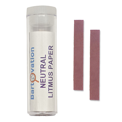 1 Vial of Neutral Litmus Paper for Acidity/Alkalinity Testing of Solutions