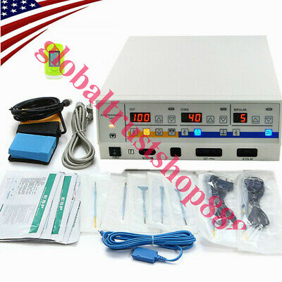 Pro Electrosurgical Unit Diathermy Machine Cutter Electrotome Electrocautery UPS