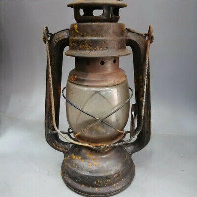 Collection Chinese Antique iron Glass Hand-made Retro barn lantern Oil lamp