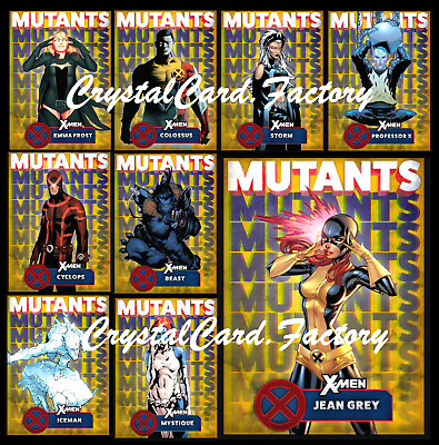 Topps Marvel Collect Card Trader X-Men Mutants Yellow [Set 9 Cards] Digital