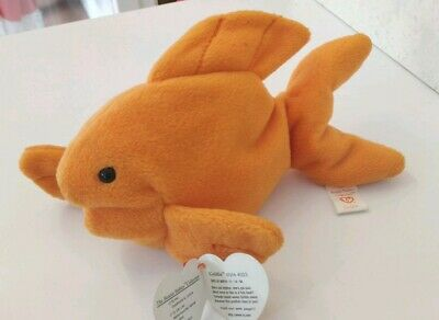 THE FISH TY BEANIE BABIE VERY RARE GOLDIE