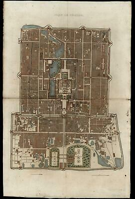 Beijing Forbidden City Peking City Plan Emperor c1850 splendid rare detailed map
