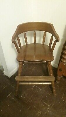 Vintage wooden baby's high chair