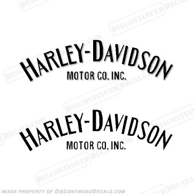 Harley-Davidson Fuel Tank Decals Single Color (Set of 2) - Style 1