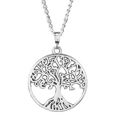 1 Tree of Life 18 Inch Silver Plated Necklace Pendant  Pagan Wicca Charm