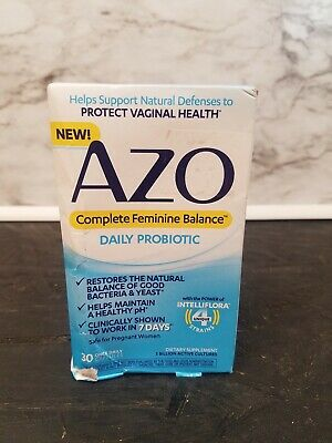 AZO Complete Feminine Balance Women's Daily Probiotic   Clinically Proven 4/2020