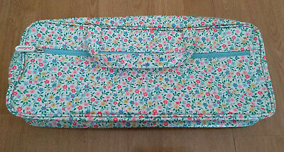 Cath Kidston Knitting Bag White Summery Floral 40Cm Long Excellent Used Free P&P