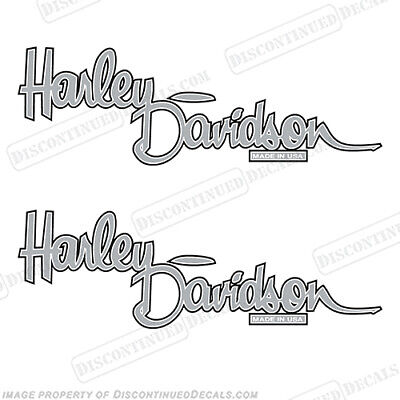 Harley-Davidson Fuel Tank Motorcycle Decals (Set of 2) - Style 13