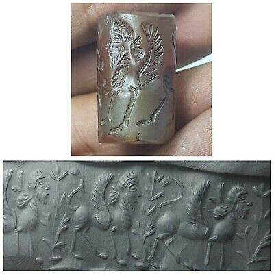 Sasanian very old agate cylinder seal bead