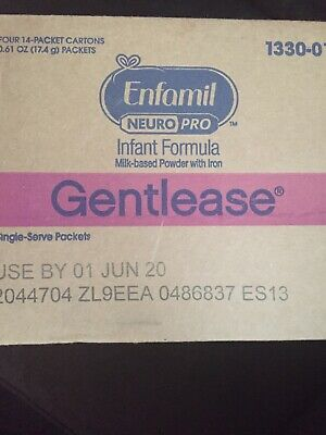 Enfamil NeuroPro Gentlease Single Serve Powder, 17.6g (56 packets) Exp:06/20